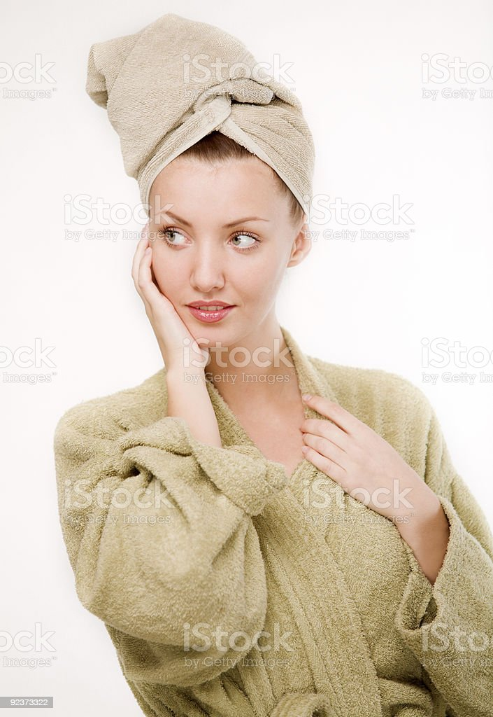girl after a shower royalty-free stock photo