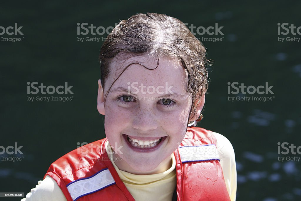 girl after swim royalty-free stock photo