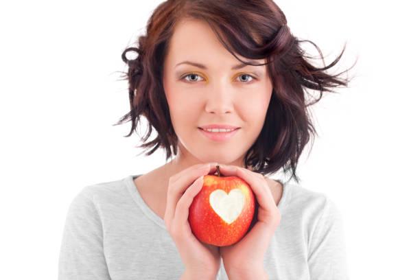Mädchen mit apple – Foto