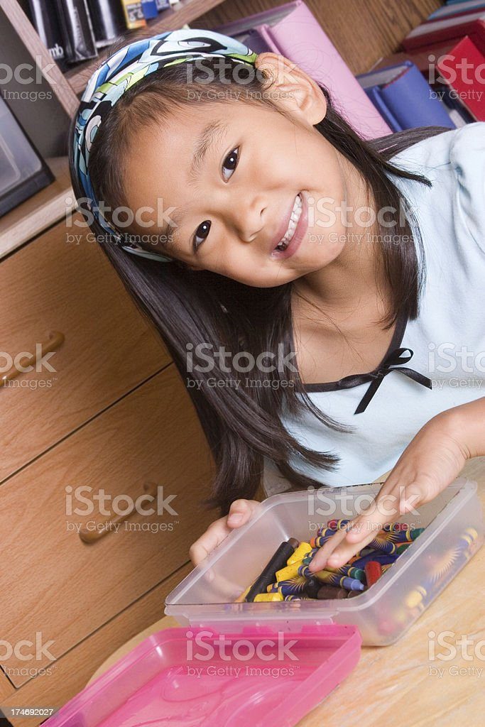 Girl and Art Series royalty-free stock photo