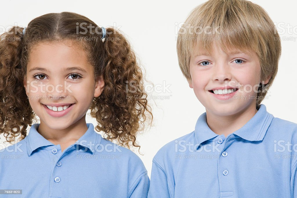 Girl and boy royalty-free stock photo
