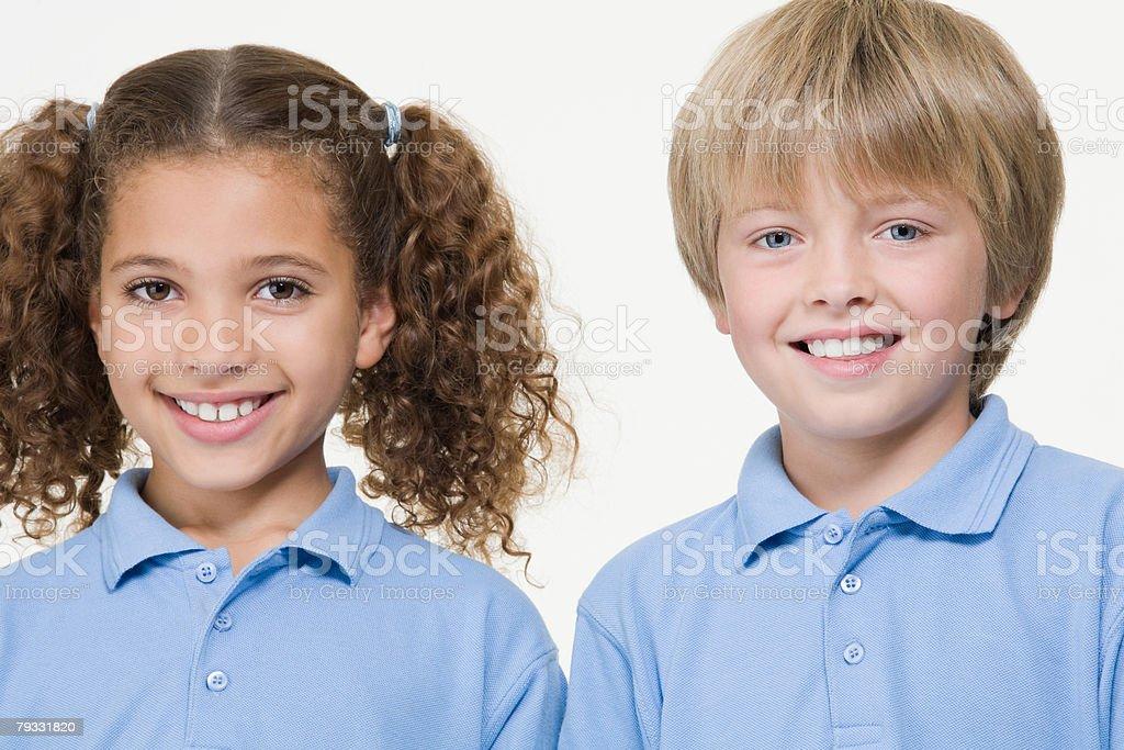 Girl and boy 免版稅 stock photo