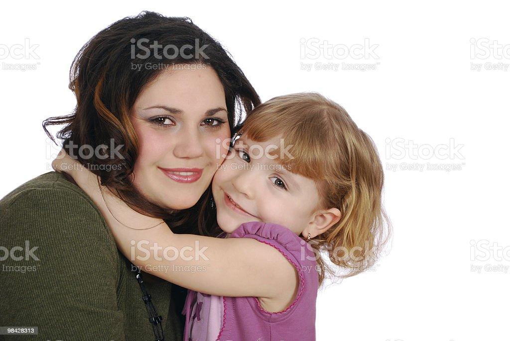 girl and child big hug royalty-free stock photo