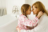 istock Girl and daughter rubbing noses 71927610