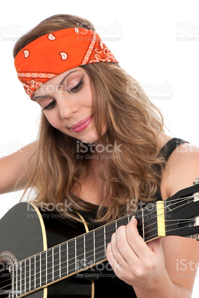 Girl and Guitar royalty-free stock photo