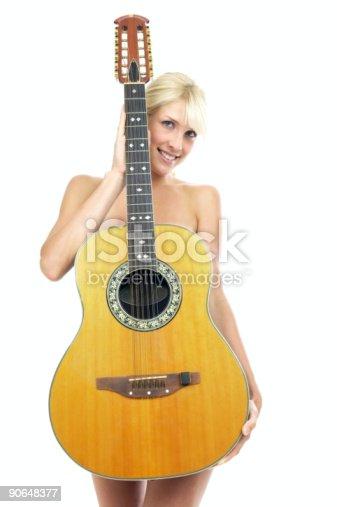 istock Girl and guitar 90648377