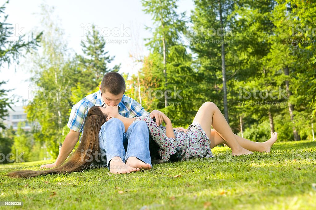 girl and  guy royalty-free stock photo