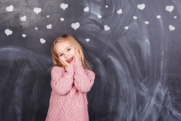 Mädchen und Herzen – Foto