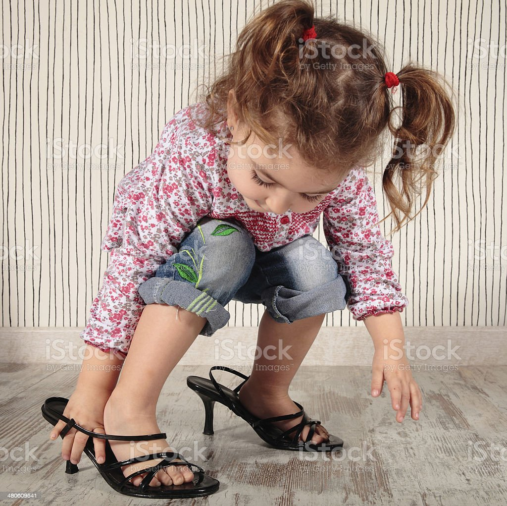 girl and heels stock photo