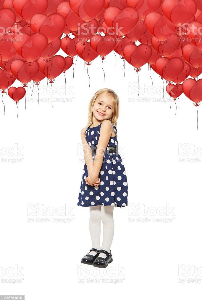 Mädchen und viele balloon – Foto