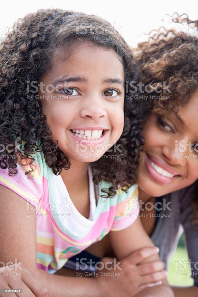 여자아이 및 구슬눈꼬리 royalty-free 스톡 사진