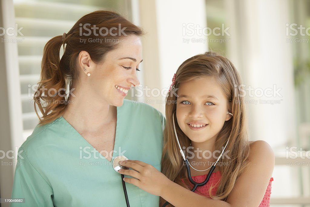 Girl and Pediatrician royalty-free stock photo