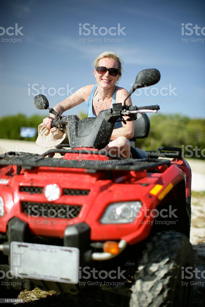 Girl and Quad royalty-free stock photo