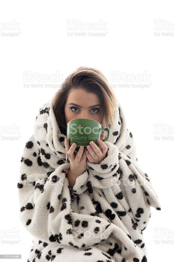 Girl and Tea royalty-free stock photo