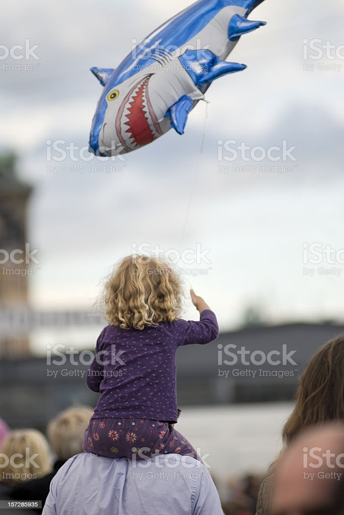 Girl and the ballon royalty-free stock photo