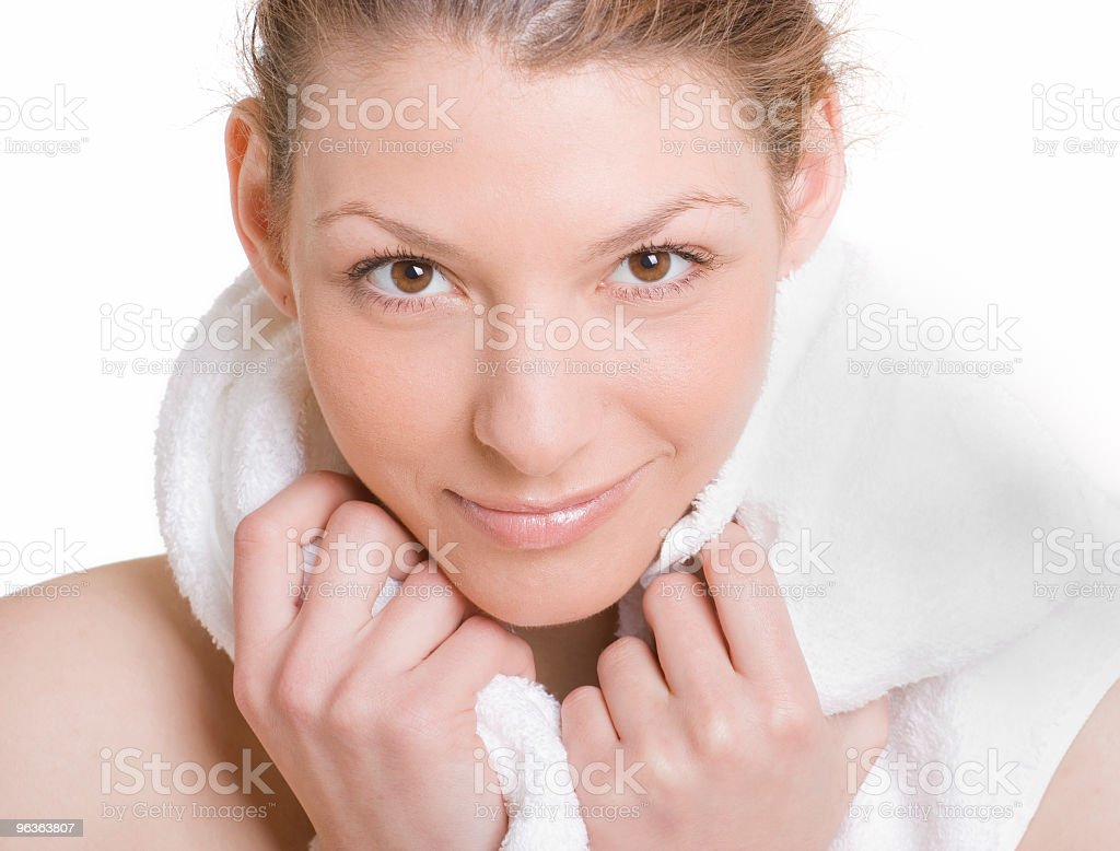 Girl and Towel royalty-free stock photo