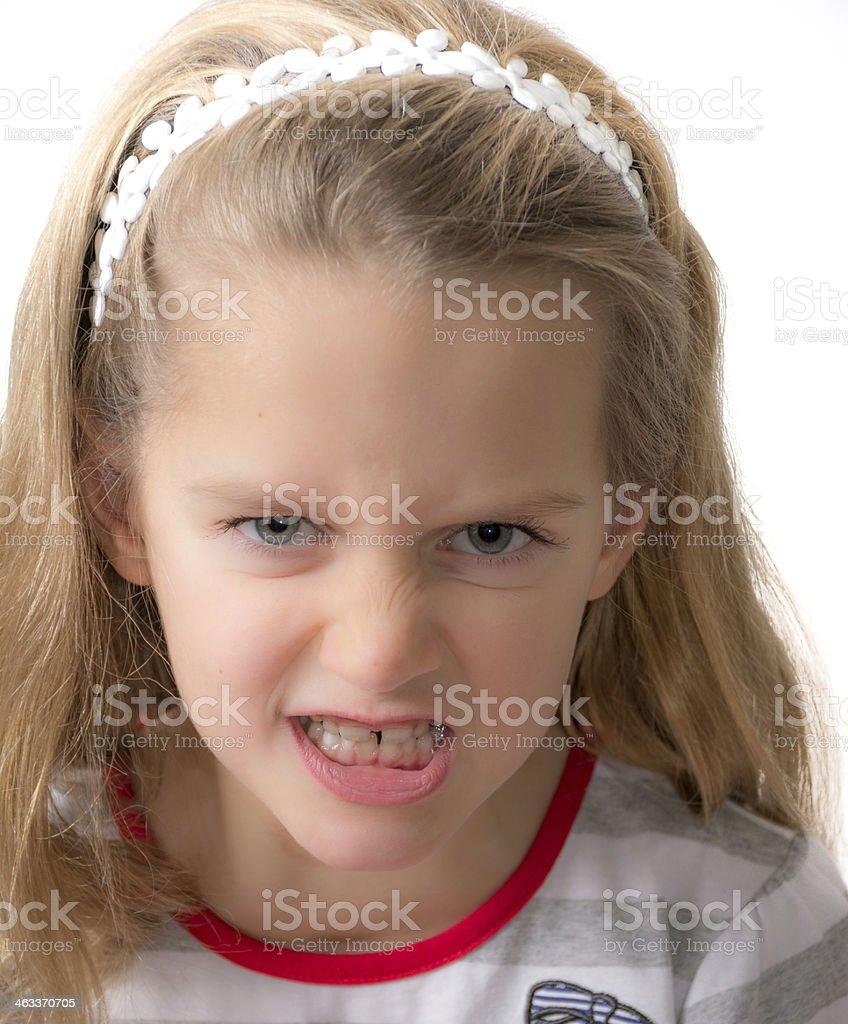 Girl Angry stock photo