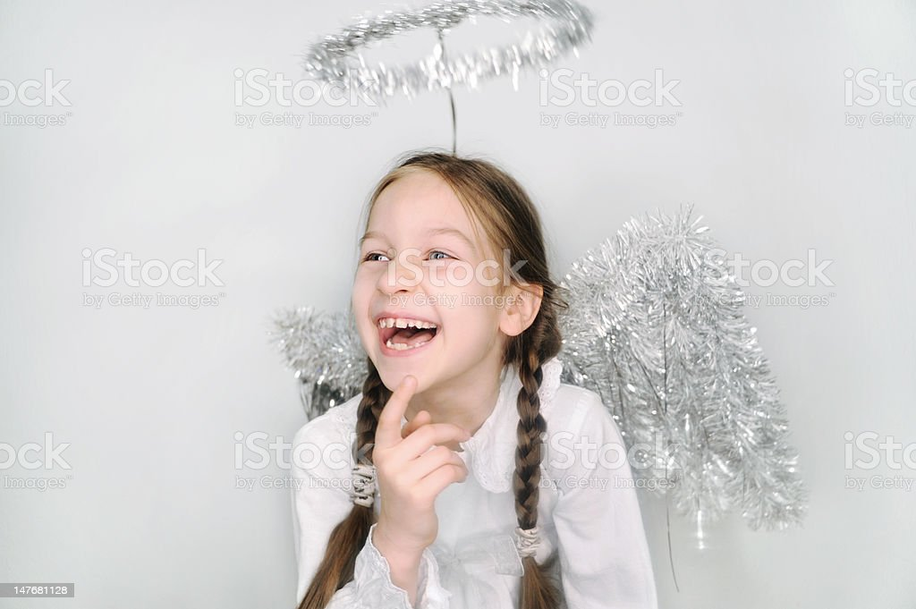 Girl as an Angel royalty-free stock photo