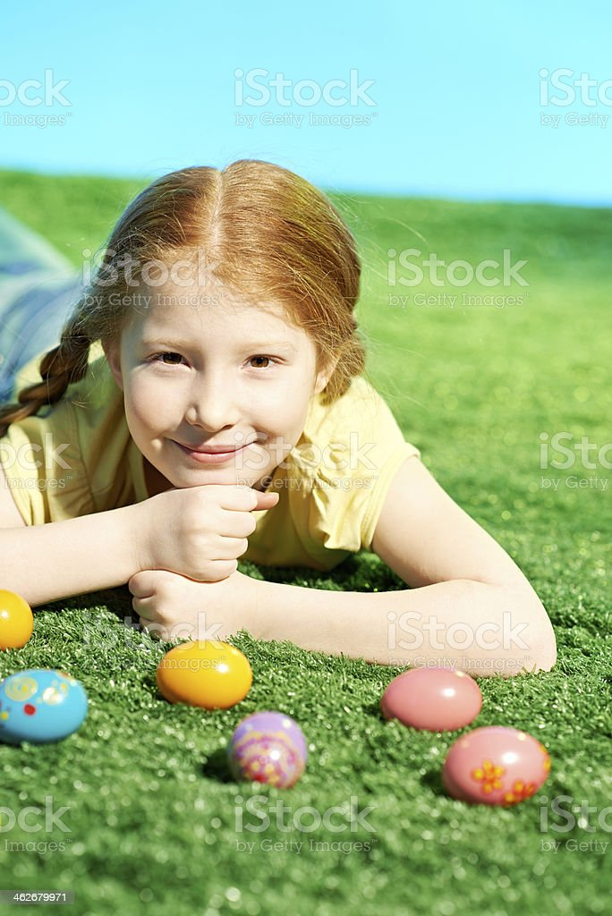 Girl at Easter royalty-free stock photo
