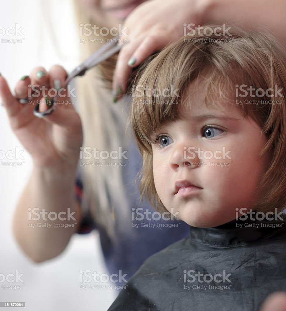girl at hairdresser royalty-free stock photo