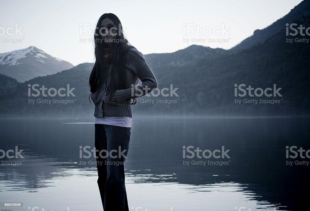 Girl at Lake royalty-free stock photo