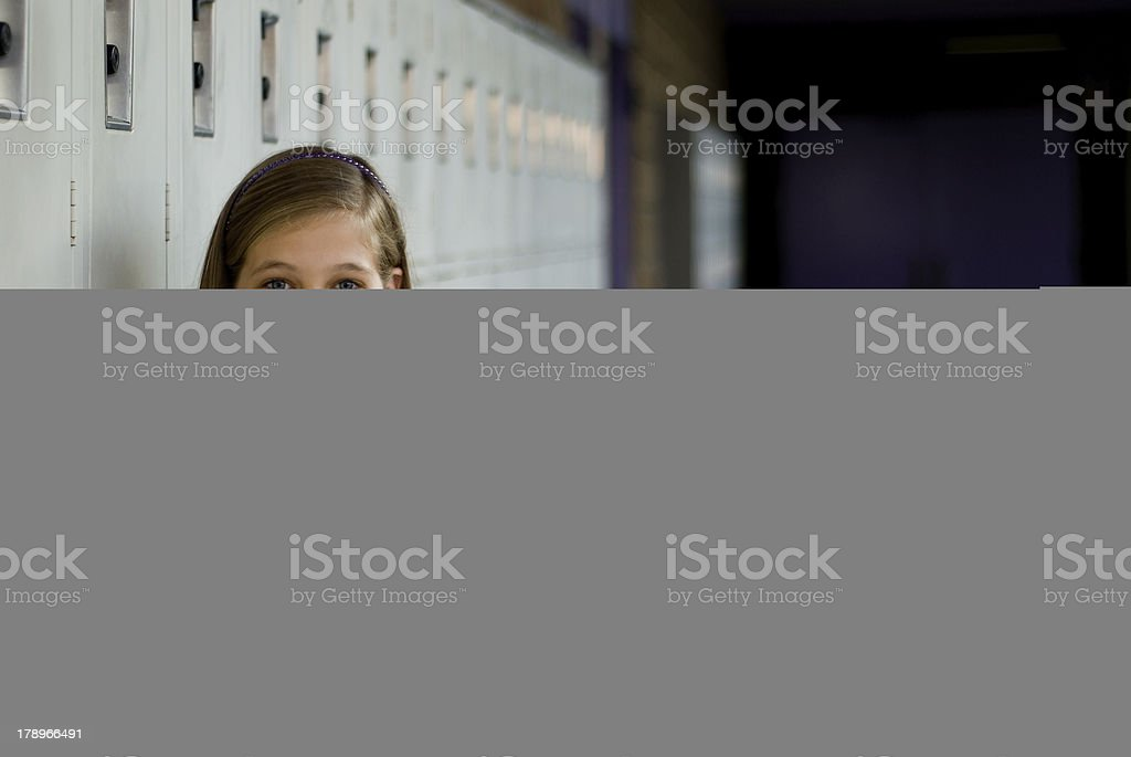 Girl at School stock photo