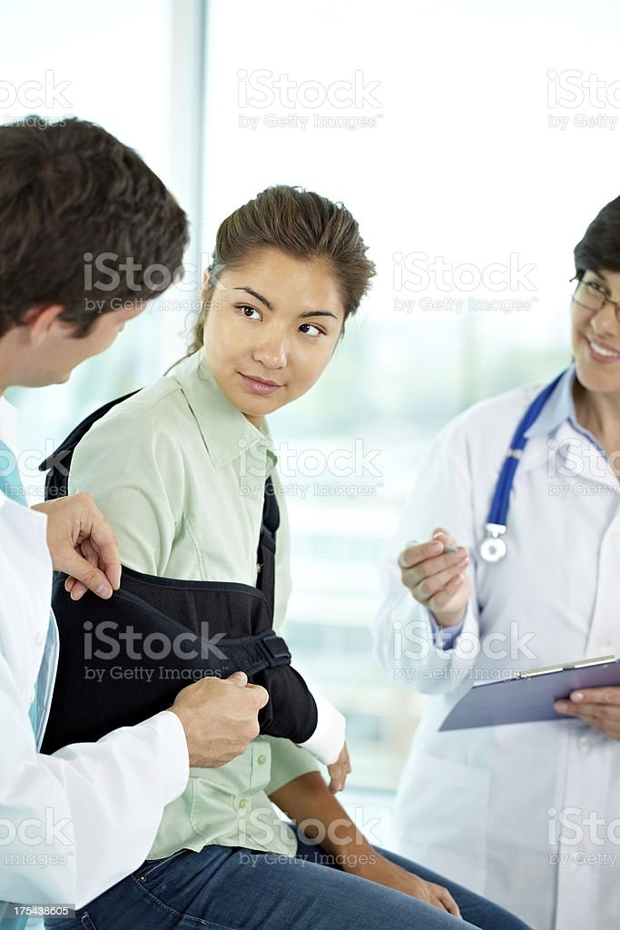Girl at surgery stock photo