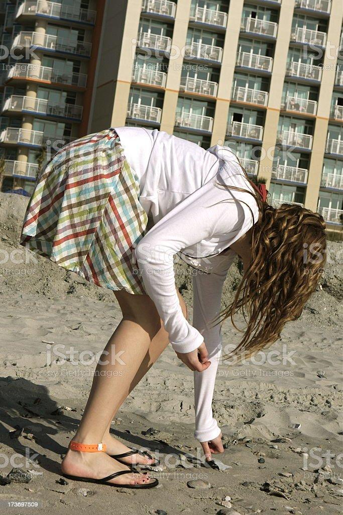 Teen Girl Bending Over