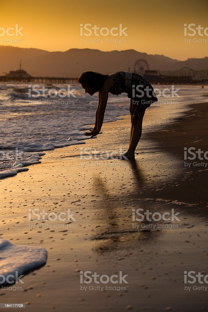 Girl at the Santa Monica Beach royalty-free stock photo