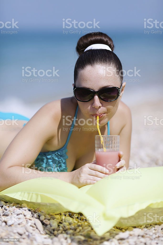 Girl at the sea royalty-free stock photo
