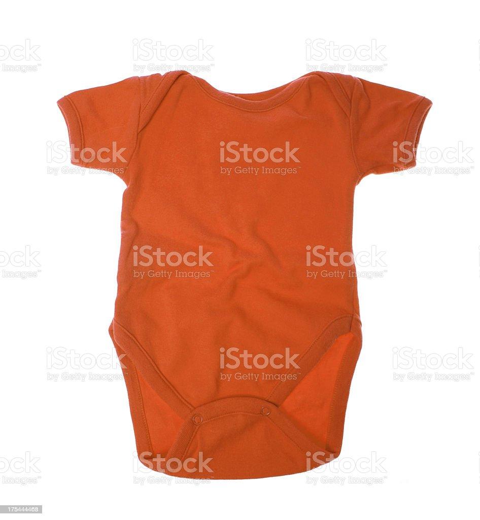 Girl baby onesie on white royalty-free stock photo