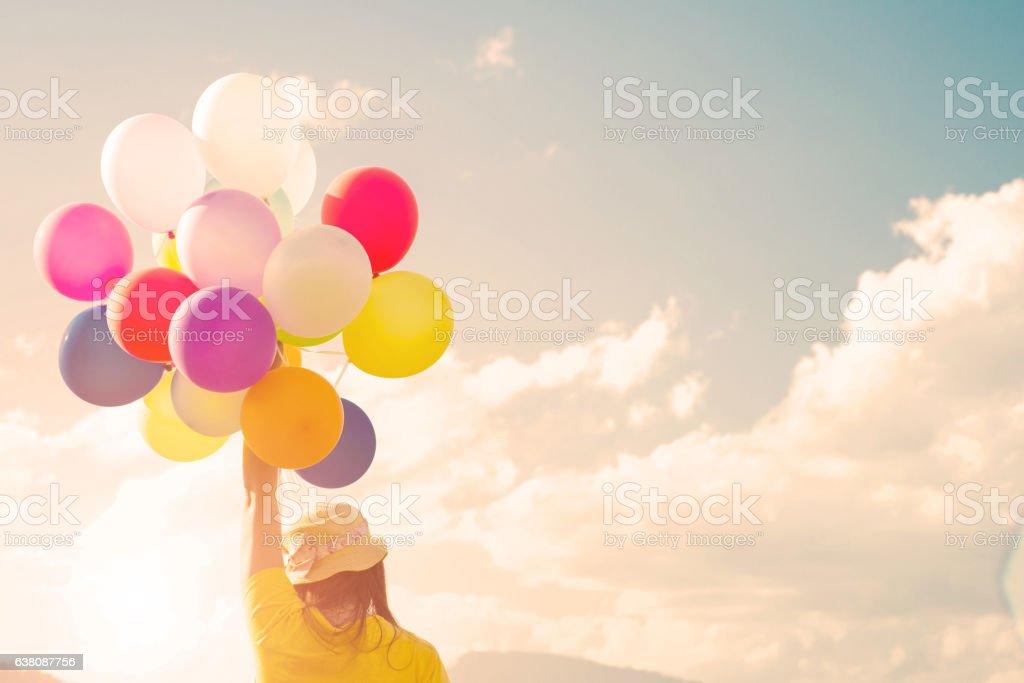 Girl balloon - foto de stock