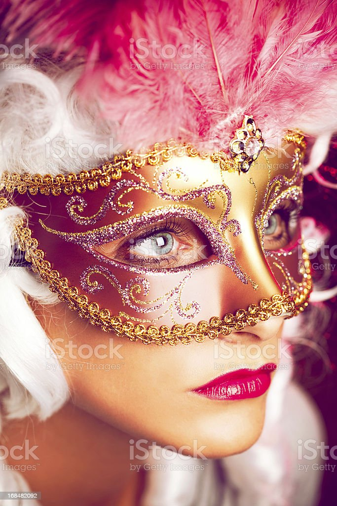 Girl Behind The Mask royalty-free stock photo