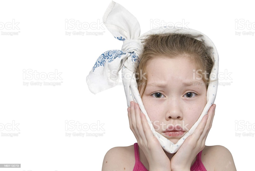 girl being ill stock photo