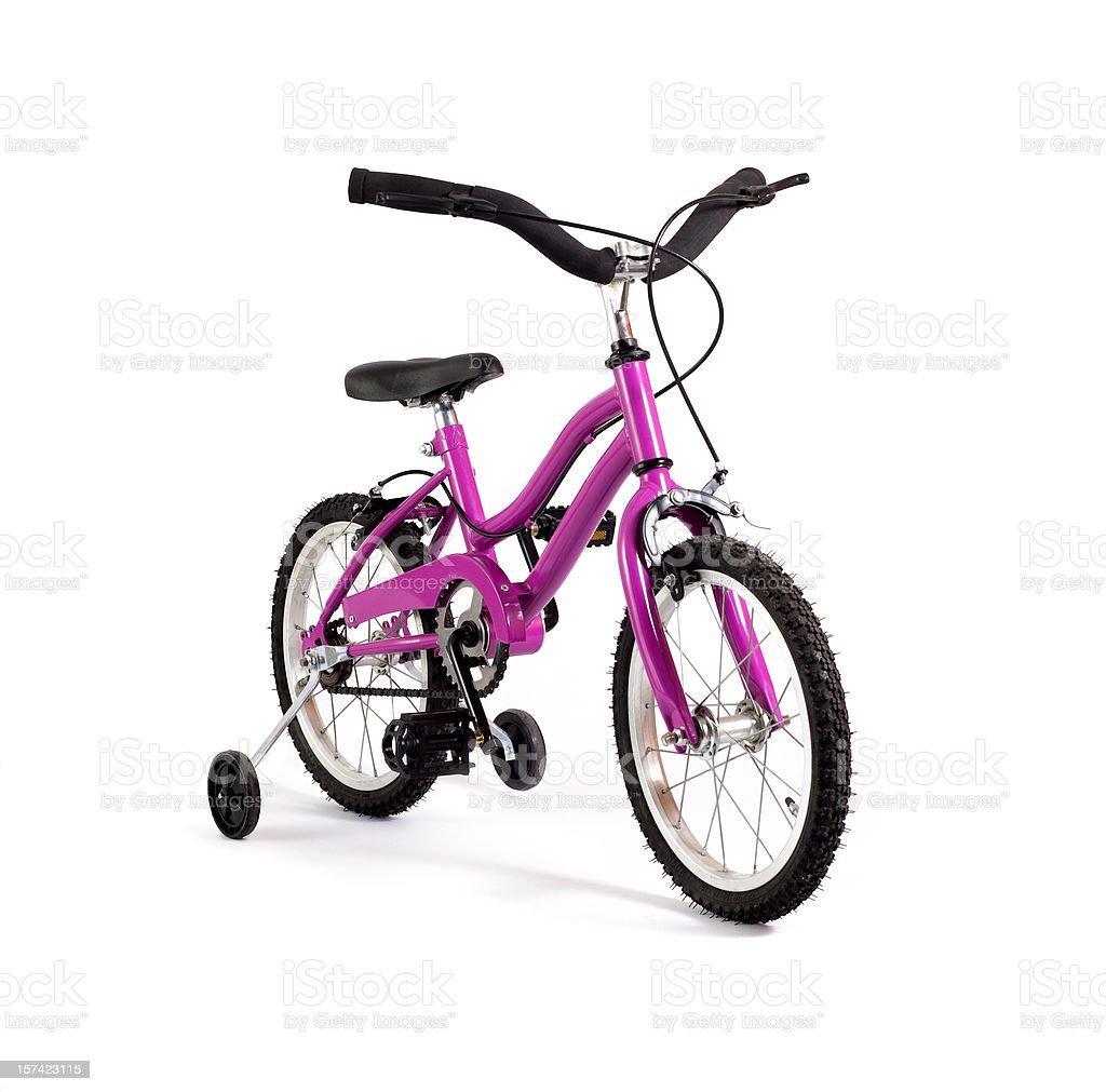 Girl Bicycle, Training Wheels royalty-free stock photo