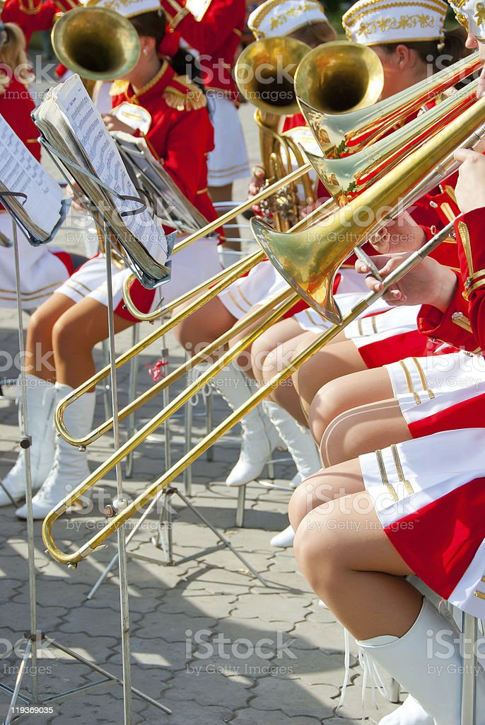 Girl Brass Band Stock Photo - Download Image Now - iStock