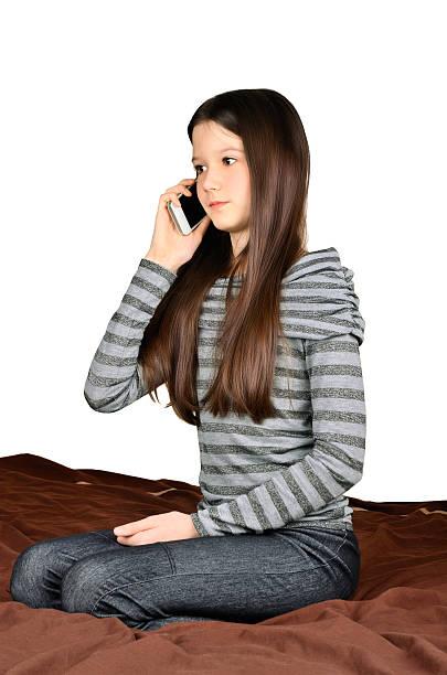 Mädchen Sie telefonisch – Foto