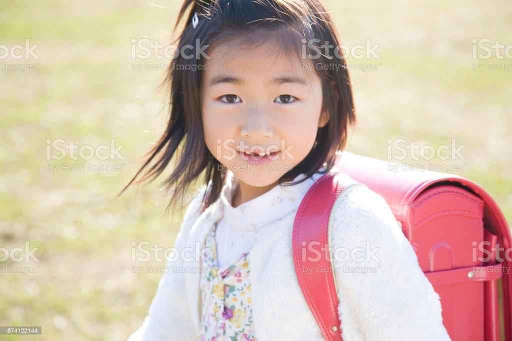 女孩攜帶包 免版稅 stock photo