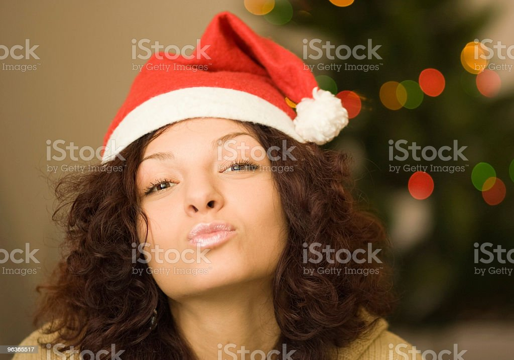 Girl Celebrating Christmas royalty-free stock photo