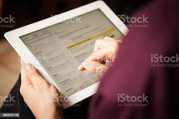 Girl Checking Mail Stock Photo - Download Image Now