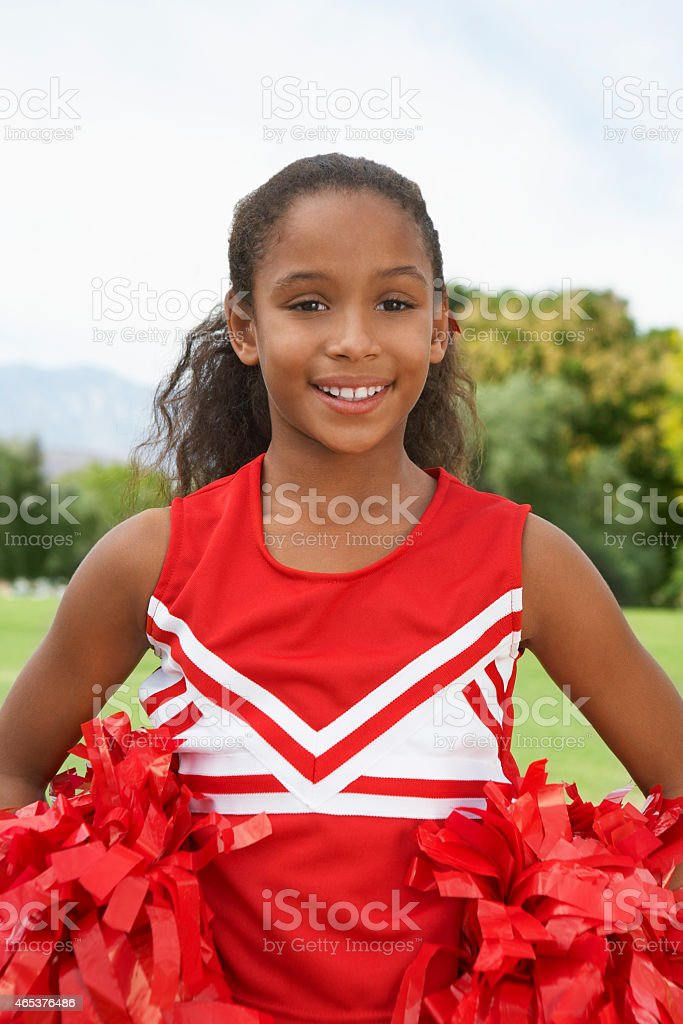 Girl cheerleader stock photo