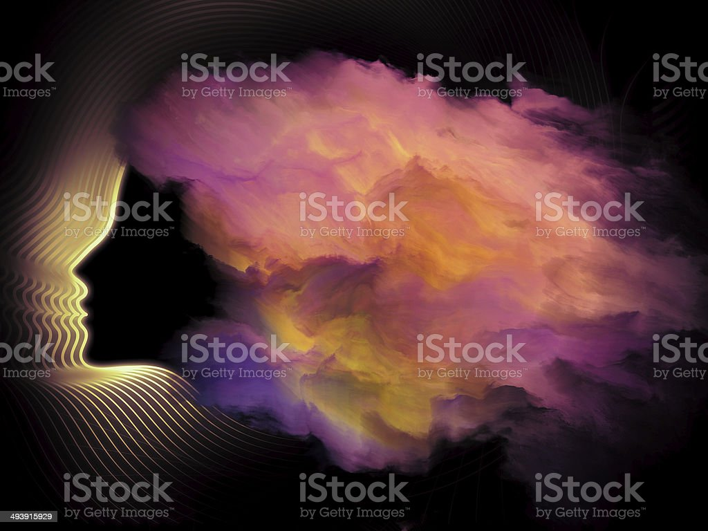 Girl Cloud stock photo