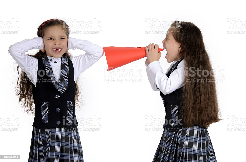 girl covering ears royalty-free stock photo
