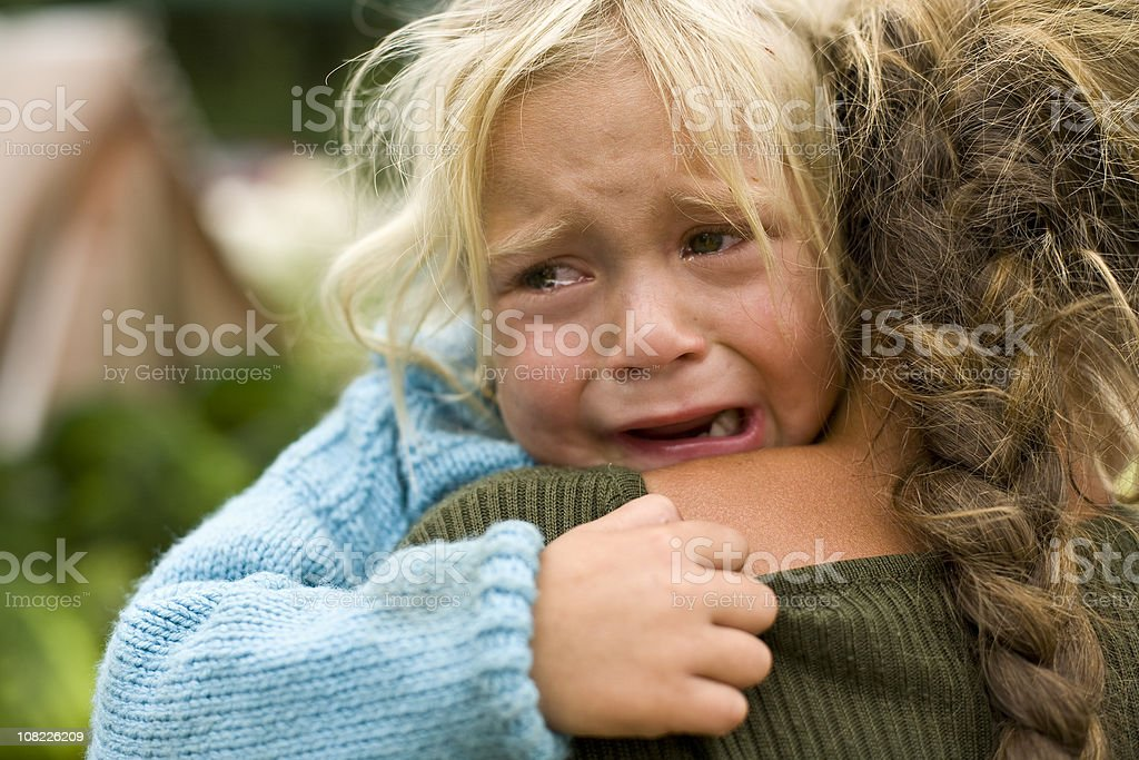 Girl crying royalty-free stock photo