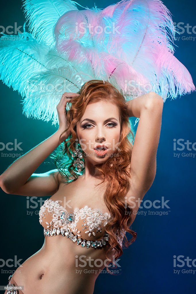 Girl dancer stock photo