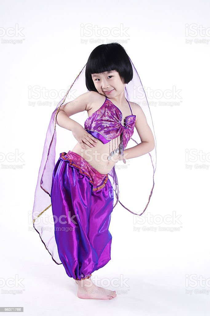 girl dancing royalty-free stock photo