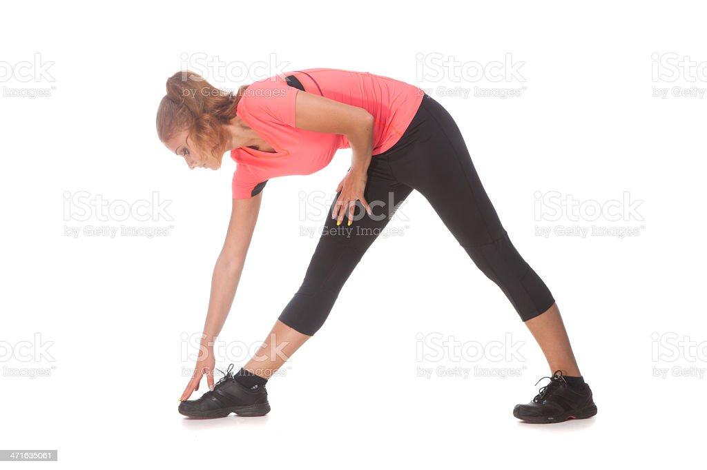 Girl doing sport exercise royalty-free stock photo