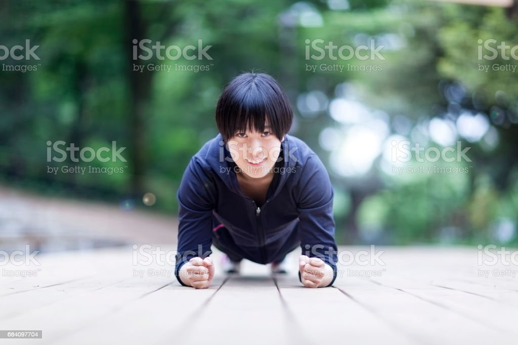 Girl Doing Sports stock photo