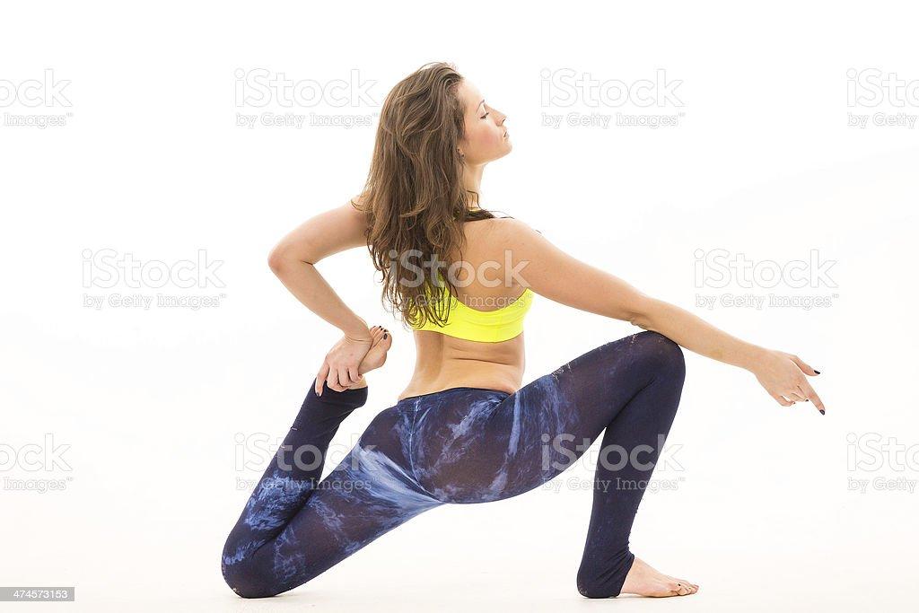 df6b541b0 Chica haciendo estiramientos de la cadera foto de stock libre de derechos