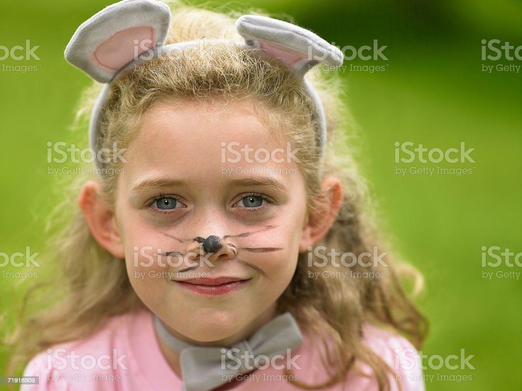 Girl dressed as a mouse royalty-free stock photo